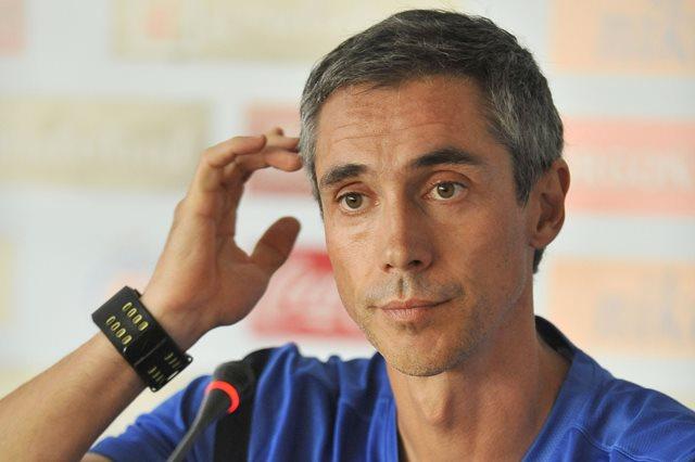 Na snímke tréner Paulo Sousa