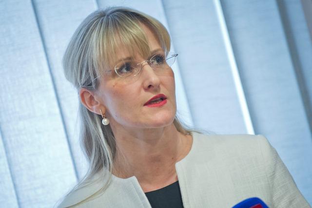 Na snímke poradkyňa ministra vnútra pre verejné obstarávanie Tatiana Behrová