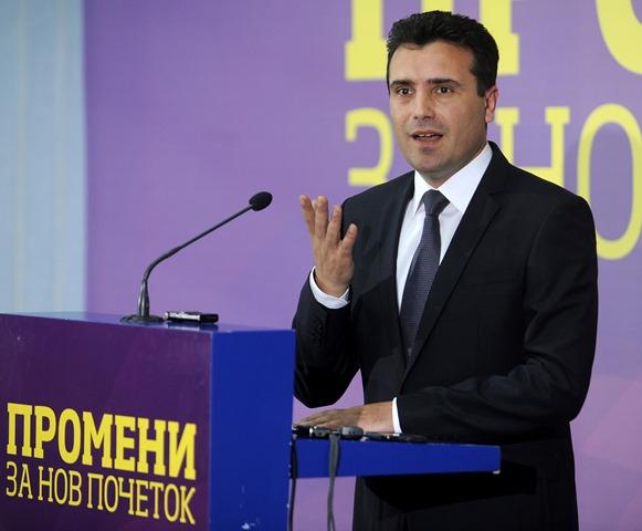 Na snímke líder macedónskej opozície Zoran Zaev