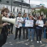 Demonštrácia za prijatie islamistov a prisťahovalcov na Hodžovom námestí