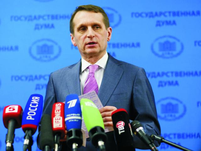 Predseda Štátnej dumy Sergej Naryškin