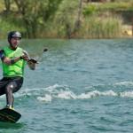 Na snímke wakeboarding na Zlatých pieskoch v Bratislave