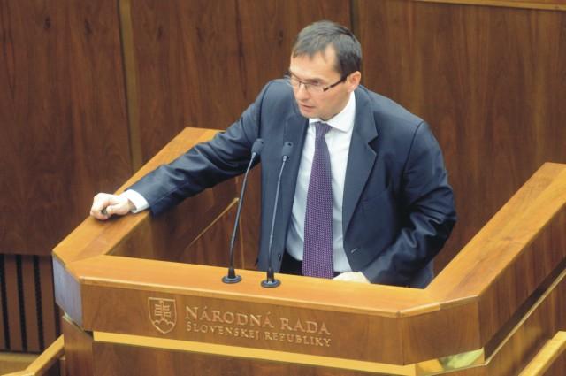 Na snímke Ľubomír Galko