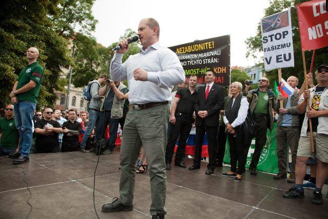Na snímke župan Banskobystrického kraja počas prejavu