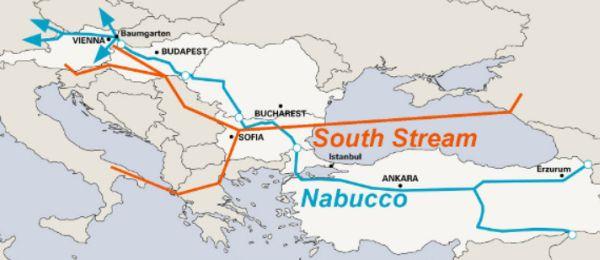 Plánovaná trasa potrubia.