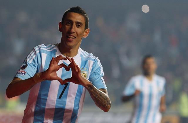 Na snímke argentínsky hráč Angel Di Maria