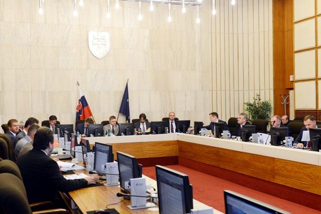 Snímka zo169. schôdze vlády SR
