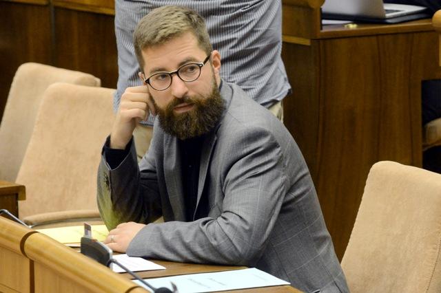 Na snímke poslanec SaS Martin Poliačik