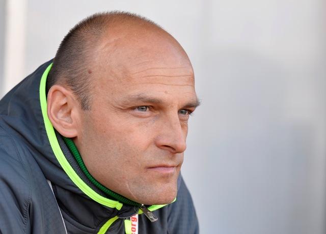 Na snímke tréner MŠK Žilina Adrián Guľa