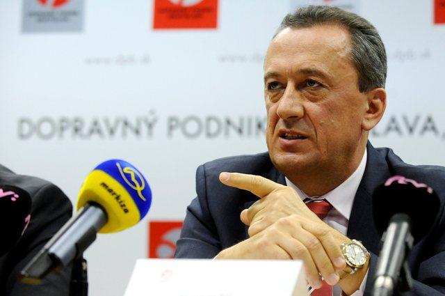 Na snímke generálny riaditeľ Dopravného podniku Bratislava (DPB) Ľubomír Belfi