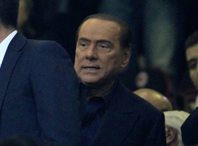 Na snímke prezident klubu AC Miláno Silvio Berlusconi