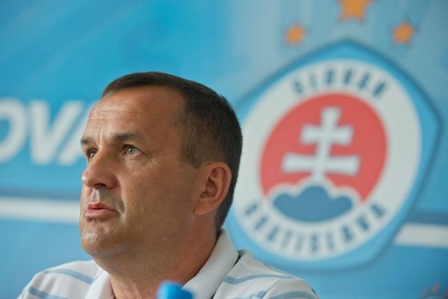 Na snímke šéf realizačného tímu Slovana Dušan Tittel
