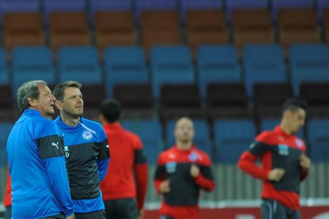 Snímka z tréningu slovenskej futbalovej reprezentácie. Ilustračné foto