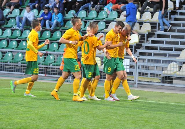 Na snímke radosť hráčov MŠK Žilina po výhre v odvetnom zápase 1. predkola Európskej ligy MŠK Žilina - FC Glentoran