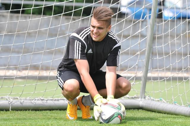 Na snímke brankár FC Spartak Trnava Adam Jakubech