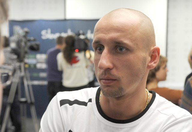 Na snímke futbalista Michal Breznaník