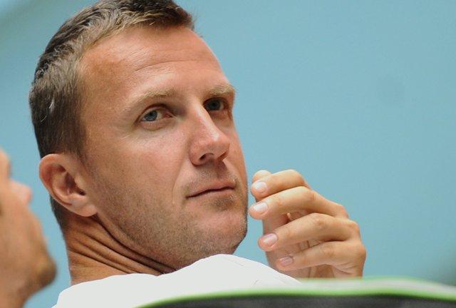 Na snímke tréner slovenského daviscupového tímu Karol Kučera