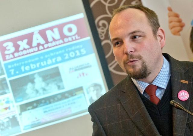 Na snímke Anton Chromík, predseda Aliancie za rodinu