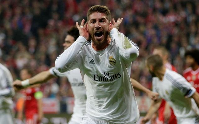 Na snímke hráč Realu Sergio Ramos