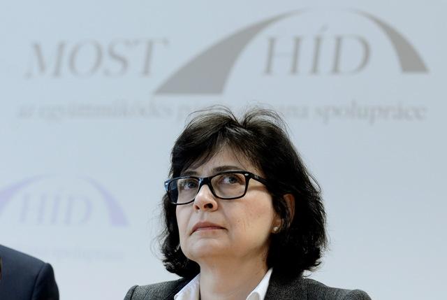 Na snímke podpredsedníčka Mosta-Híd a exministerka spravodlivosti Lucia Žitňanská