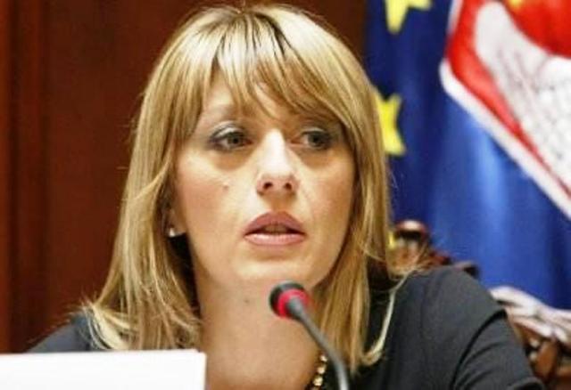 Na snímke ministerka pre európsku integráciu Srbska Jadranka Joksimovičová