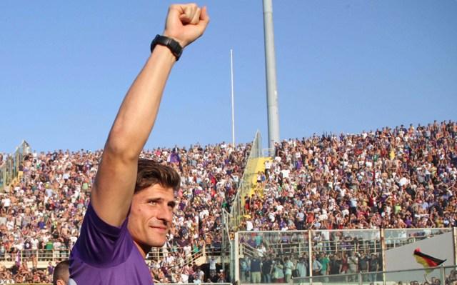 Na snímke futbalový útočník Mario Gomez