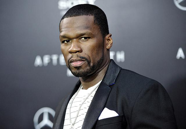 Na archívnej snímke rapper 50 Cent.