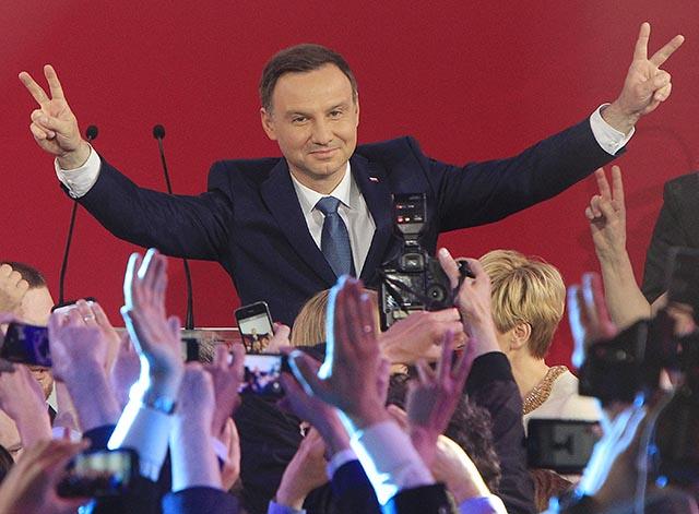 Na snímke poľský prezident Andrzej Duda.