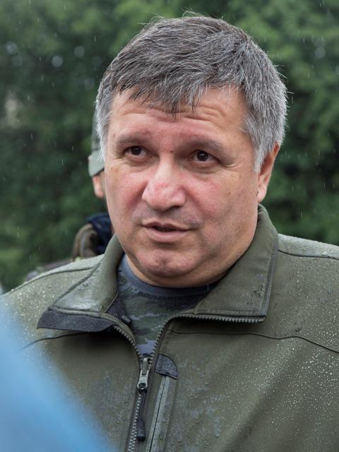 Na snímke ukrajinský minister vnútra Arsen Avakov