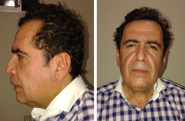 Na kombosnímke je drogový boss Héctor Beltrán Leyva