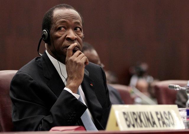 Na snímke z roku 2011 je vtedajší prezident západoafrického štátu Burkina Faso Blaise Compaoré