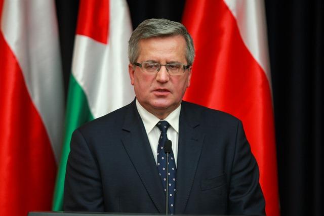 Na snímke poľský prezident Bronislaw Komorowski