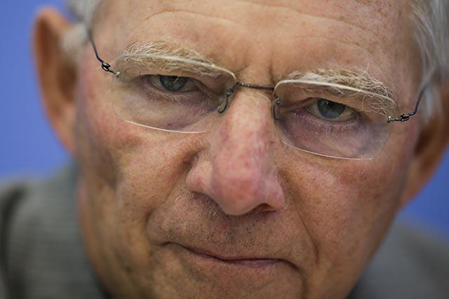 Na snímke nemecký minister financií Wolfgang Schäuble.