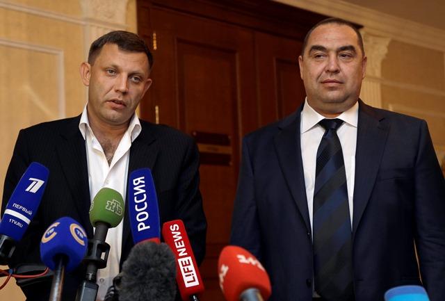 Na snímke Alexander Zacharčenko a Igor Plotnickij