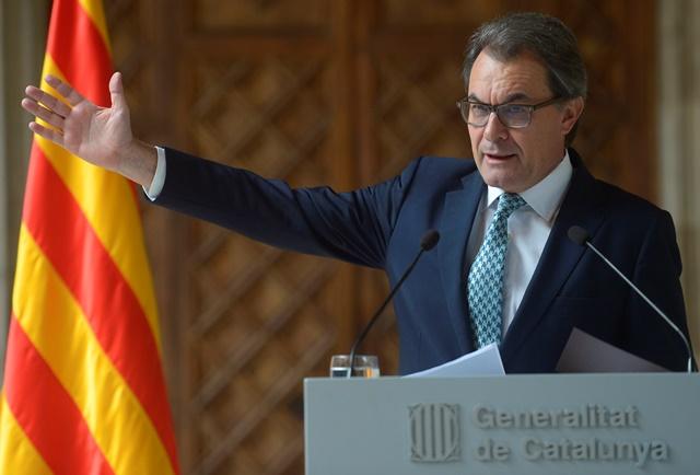 Na snímke katalánsky premiér Artur Mas