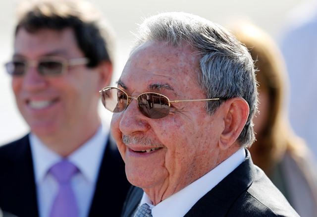 Na snímke kubánsky prezident Raul Castro