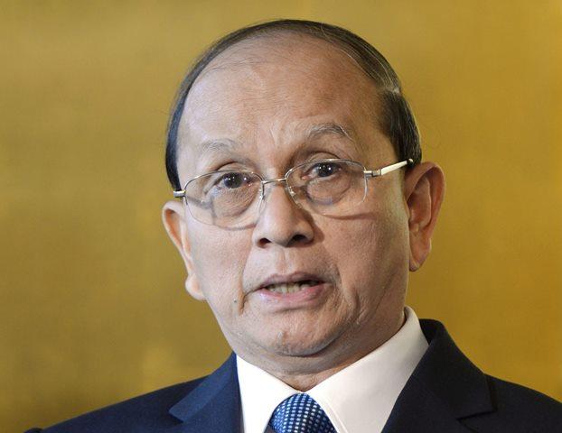 Na snímke mjanmarský prezident Thein Sein