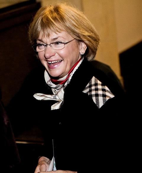 Na snímke nová predsedníčka dánskeho parlamentu Pia Kjärsgaardová