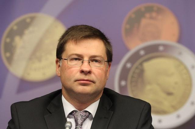Na snímke podpredseda Európskej komisie Valdis Dombrovskis