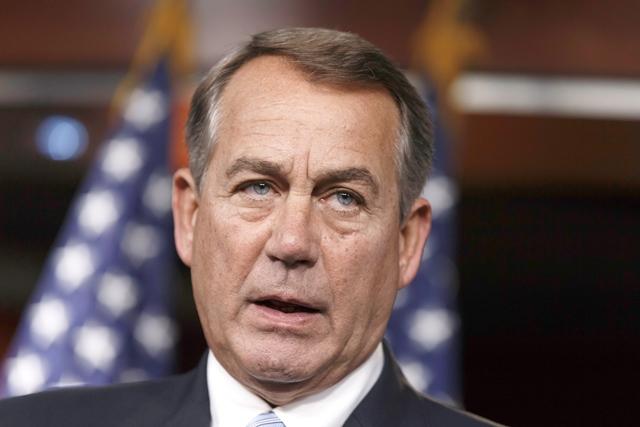 Na snímke predseda americkej Snemovne reprezentantov John Boehner
