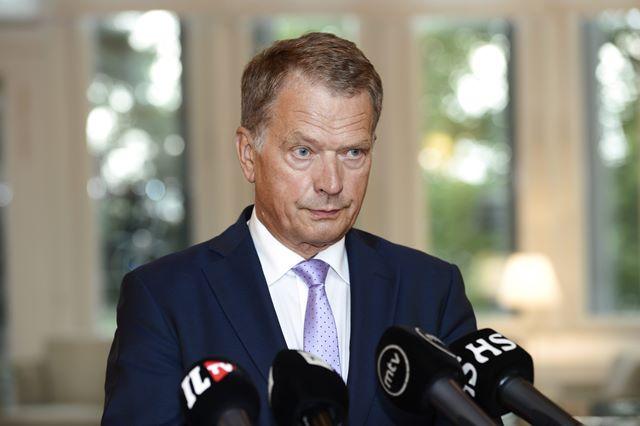 Na snímke fínsky prezident Sauli Niinistö