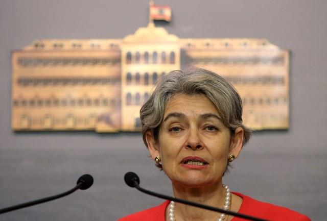 Na snímke šéfka UNESCO Irina Bokovová