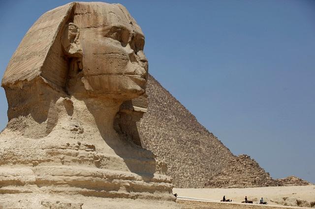 Veľká sfinga v historickej Gíze pri Káhire