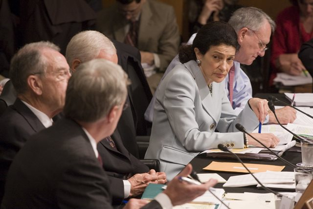 Na snímke členovia amerického Senátu