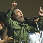 Na snímke Fidel Castro