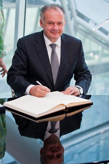 Na snímke prezident SR Andrej Kiska