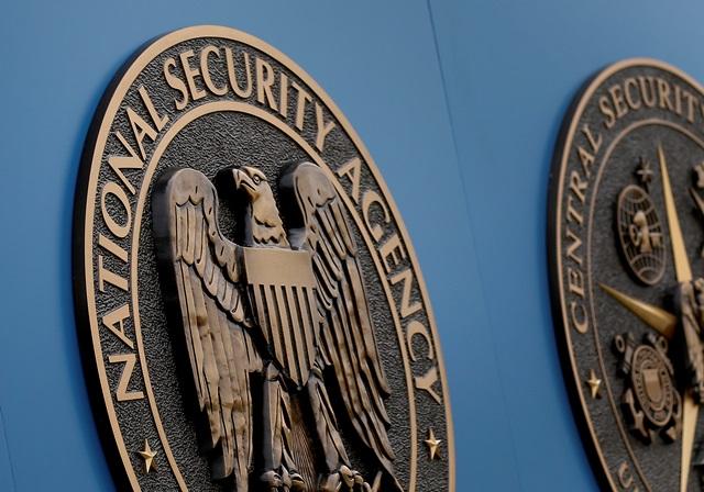 Na snímke nápis Americkej Národnej bezpečnostnej agentúry (NSA) v americkom Fort Meade