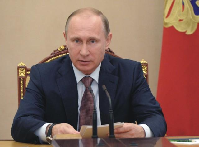 Na snímke Vladimir Putin