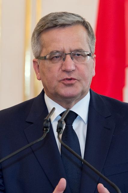 Na snímke prezident Poľskej republiky Bronislaw Komorowski