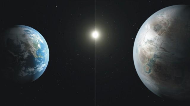Vedcom z amerického Národného úradu pre letectvo a vesmír (NASA) sa podarilo pomocou sondy Kepler objaviť za slnečnou sústavou planétu podobnú Zemi. Planéta je približne o 60 percent väčšia než Zem a nachádza sa vo vzdialenosti zhruba 1400 svetelných rokov v súhvezdí Labuť, spresnili americkí vedci na tlačovej konferencii. Planéty podobnej veľkosti boli objavené aj predtým; predmetné vesmírne teleso nazvané Kepler-452b však obieha okolo hviezdy, ktorá je zároveň veľmi podobná Slnku, je však od neho staršia. Planéta obieha okolo danej hviezdy v takmer rovnakej vzdialenosti, akú má obežná dráha Zeme voči Slnku